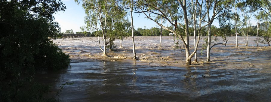 Floodwaters, Floods, River, Flooding, Disaster