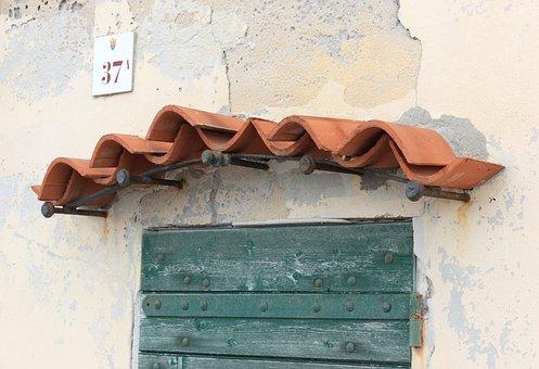 Italy, Sardinia, Alghero, Seafront, Door, Tiles