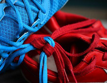 Shoelace, Knot, Knotted, Together, Keep Together