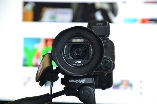 Camera, Jvc, Video, Media, Film, Cinema, White, Header