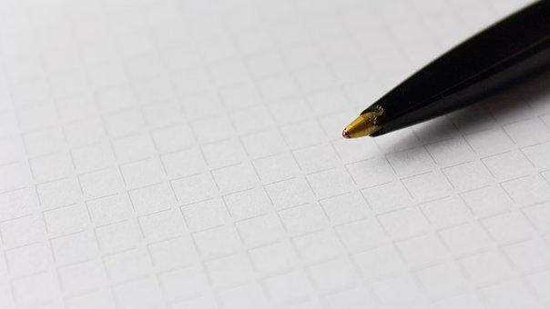 Pen, Paper, Karos, Texture, Leave, Office, Writing Tool