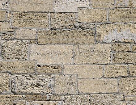 Stone Wall, Brick, Exterior, Background, Backdrop, Wall