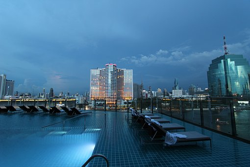 Asia, Bangkok, City, Thailand, Pool, Blue, Holiday