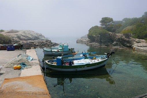 Sea, Mediterranean, Landscape, Water, Side, Boats
