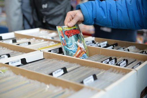 Comiccon, Convention, Comic, Books, Superman, Selection