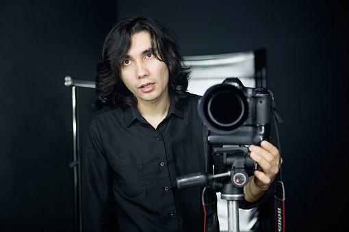 Portrait, Men's, Camera, Photographer, Boy, Man, Young