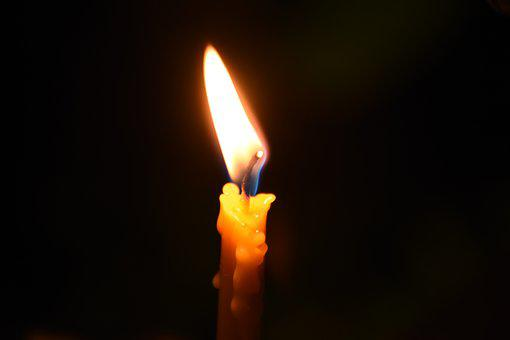 Candle, Light, Dark