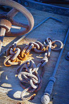 Chain, Metal, Links, Scrap, Steel, Industrial