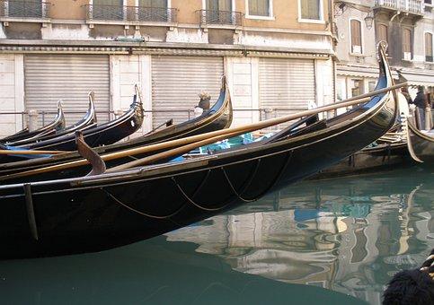 Venice, Channel, Gondolas