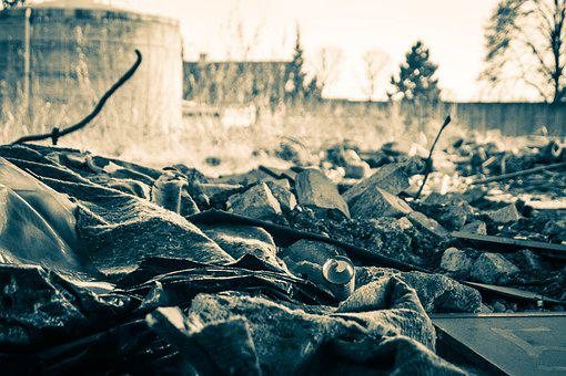 Destruction, Debris, Collapse