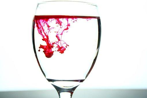 Glass, Ink, Droplet, Light, Wine, Drink, Bar, Alcohol