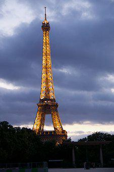 Paris, Eiffel, Tower, France, Europe, City, French