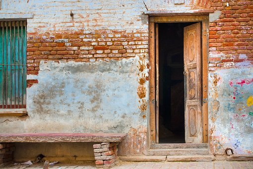 Asia, Travel, India, Architecture, House, Front, Door