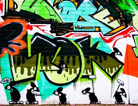 Graffiti, Letters, Font, Text, Mouse, Mice, Decoration
