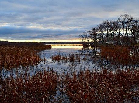 Sunrise, Lake, Water, Nature, Landscape, Morning, Sky