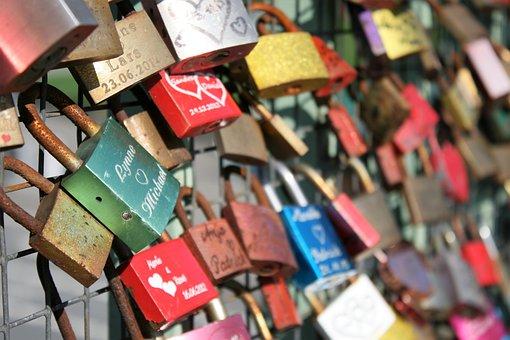 Love Locks, Bridge, Love, Colorful, Before