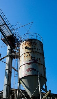 Industry, Silo, Memory, Old, Lapsed, Stainless, Tower