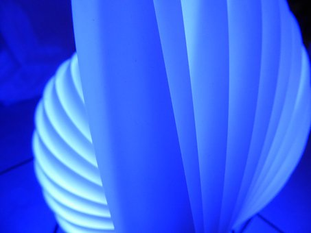Blue, Light, Lamp, Pattern, Motion
