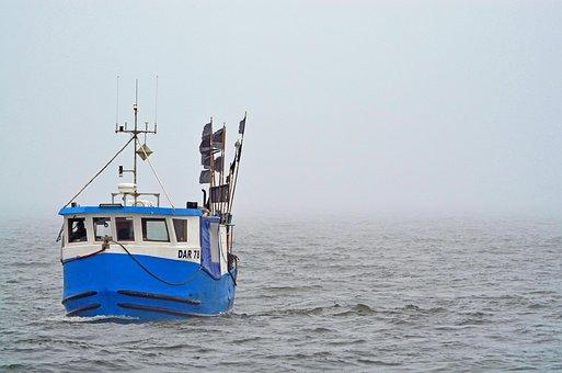 Fishing Boat, Baltic Sea, Fog, Sea, Boot, Fischer