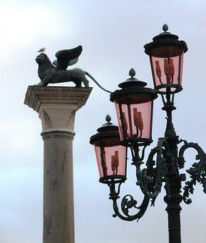 Venice, Leon, Italy, Street Lamp