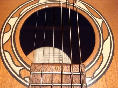 Guitar, Sound, Hole, Strings, Ornament