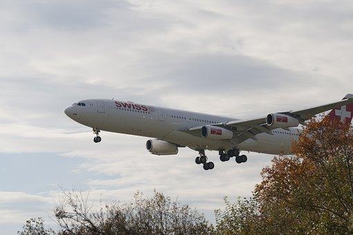 Aircraft, Landing, Swiss, Zurich, Switzerland