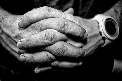 Hands, Man, People, Person, White, Time, Clock