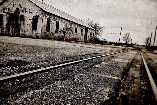Train, Tracks, Building, Transportation, Railway