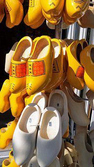 Clogs, Netherlands, Shoe, Wood, Bergen Op Zoom