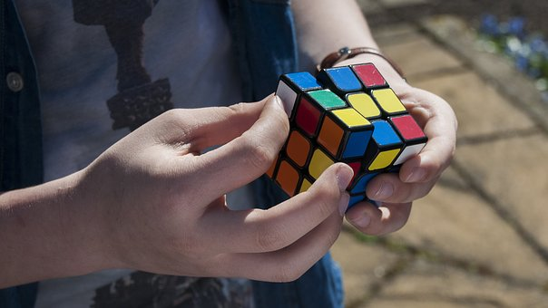 Cube, Rubik, Boy, Puzzle, Finger, Youth, Hand, Young