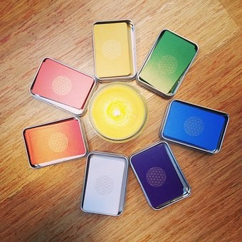 Chakra, Card, Chakras, Colours, Candle, Light, Rainbow