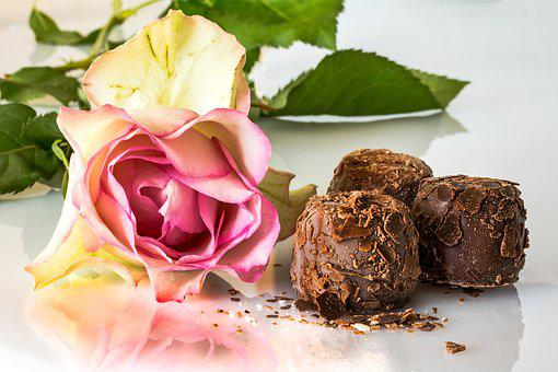 Chocolates, Confectionery, Chocolate, Rose, Floribunda