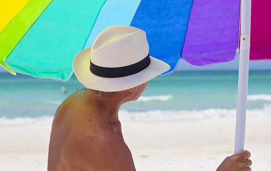 Beach, Umbrella, Colorful, Vacation, Seashore, Summer