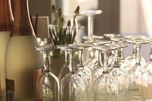 Champagne, Glasses, Champagne Glasses, Celebrate, Drink
