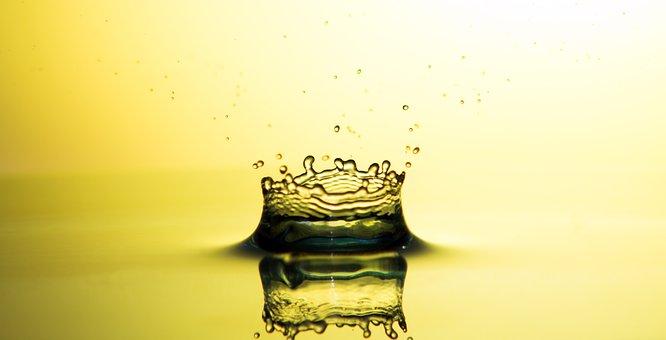 Drip, Water, Drop Of Water, Liquid, Close, Golden Drops