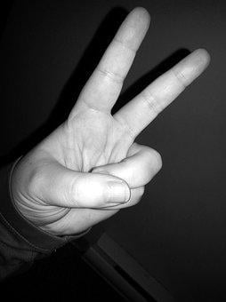 Peace, Finger Sign, Sign Language, Fingers