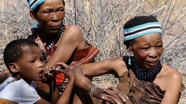 Botswana, Bushman, Group, Indigenous Culture, Tradition