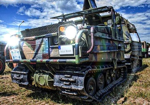 Tracked Vehicle, Oldtimer, Panzer, Hdr, Vehicle