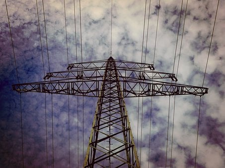 Strommast, Current, High Voltage, Power Line
