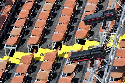 Grandstand, Sítze, Sit, Chairs, Theater, Viewers