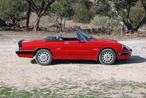 Alfa Romeo, Spider, Sports Car, Red, Car, Vehicle, Auto