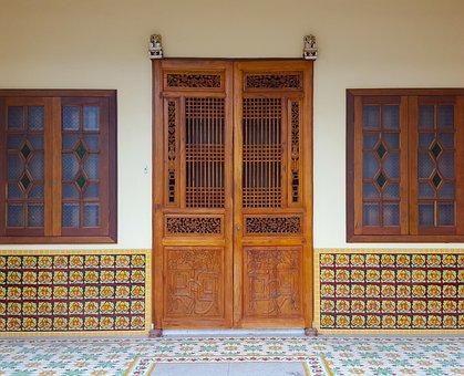 Door, Wooden, Exterior, Design, Traditional, Tiles