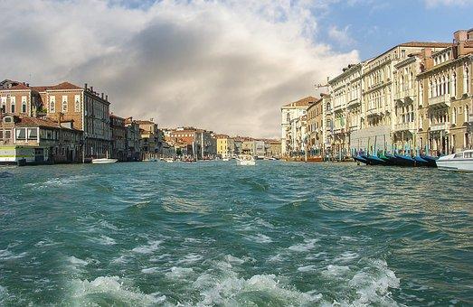 Venice, Boat, Ride, Venezia, Canal, Grand, Buildings