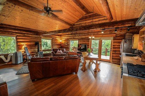 Log Home, Log, Home, Rustic, Country, Pioneer, Farm