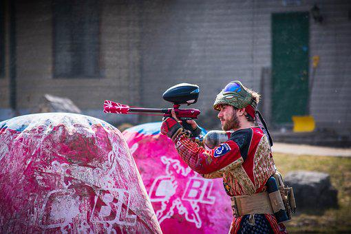 Paintball, Dirty, Paint, Battle, Splatter, Sport, Mask