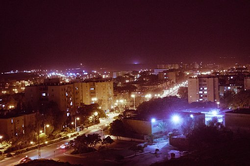 City, Lights, Old, Building, Night, Architecture