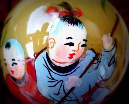 China, Chinese Art, Chine, Zen, Eastern, Monk, Circular