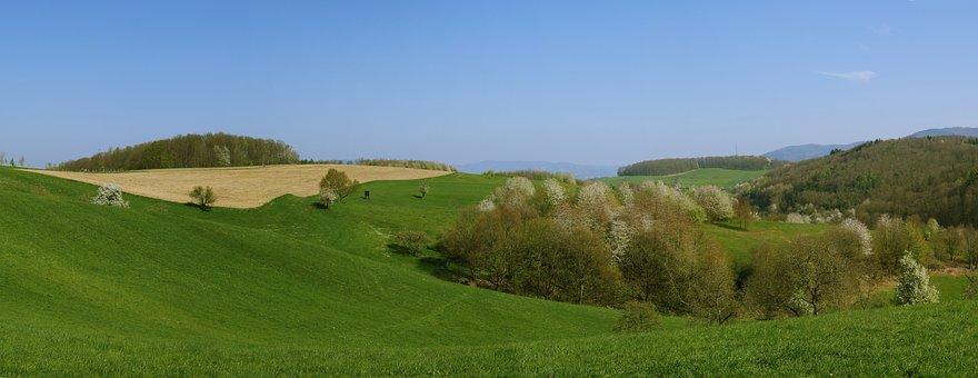 Panorama, Odenwald, Cultural Landscape, Südhessen
