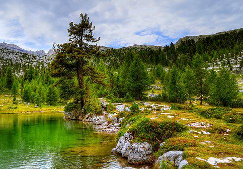 Fanes, Dolomites, Mountains, Mountain Landscape