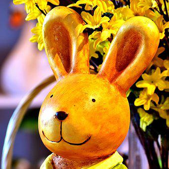 Easter, Hare, Easter Bunny, Figure, Cute, Greeting Card